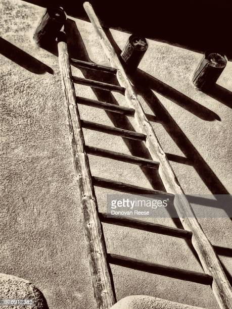 Taos NM. Adobe structure.  Ladder