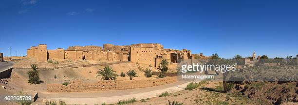 taourirt kasbah at ouarzazate - kasbah of taourirt stock pictures, royalty-free photos & images
