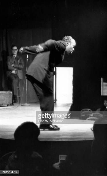 Tap dancer Groundhog performs onstage at the Village Gate nightclub New York New York November 17 1965