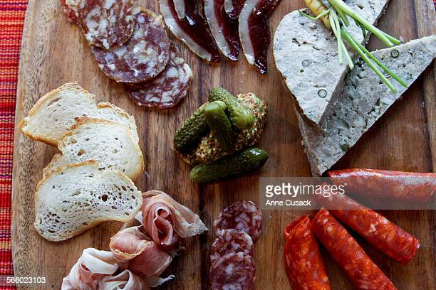 Tapas charcuterie board for review of French market and cafe L'Epicerie Market in Culver City on September 29 2011