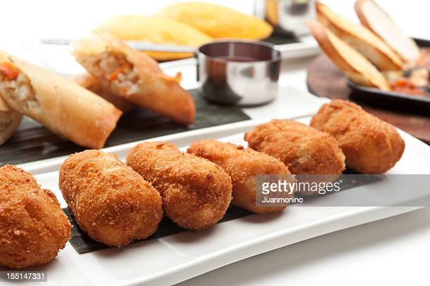 tapas - croquette stock photos and pictures