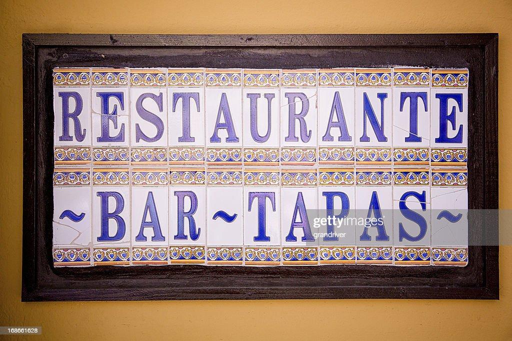 Tapas Restaurant Sign : Stock Photo