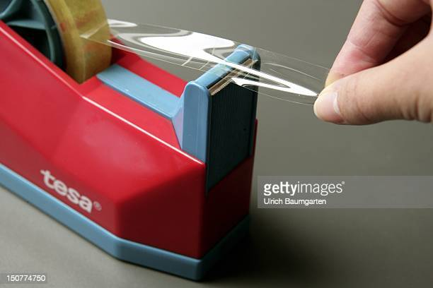 tape dispenser with adhesive tape from the German brand tesa