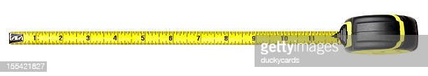 tape measure (with clipping path) - inch stock pictures, royalty-free photos & images