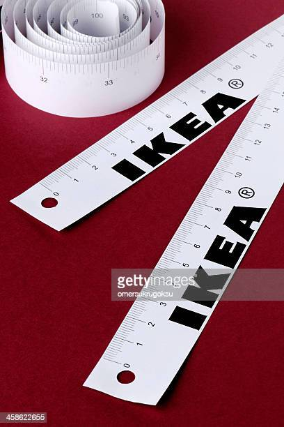 ikea tape measures - centimetre stock photos and pictures