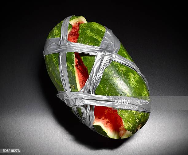 Taped Watermelon on Black