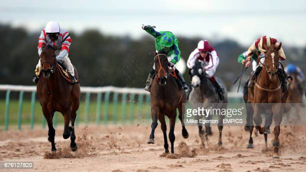 taper Jean Girl ridden by andrea Atzeni wins the Bet dubai World Golf Betdaq Selling Stakes