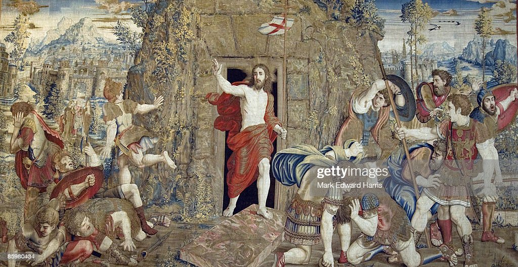 Tapestry Depicting Christ's Resurrection, Vatican  : Stock Photo