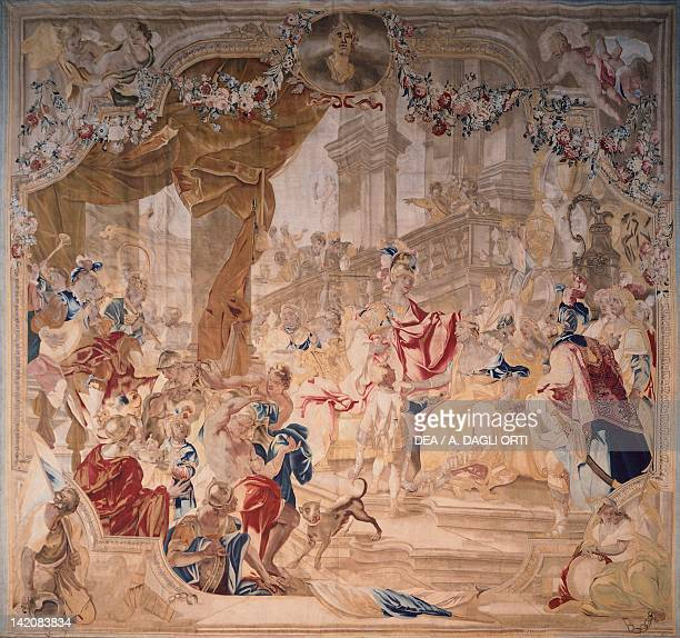 Tapestry featuring the Wedding of Alexander the Great and Roxane from the series dedicated to the History of Alexander the Great 18th century
