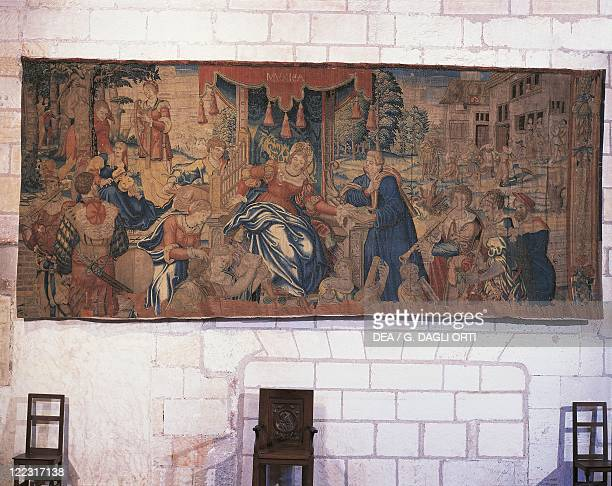 Tapestry Flanders 16th century Music Allegorized Audenarde production Chateau de Loches