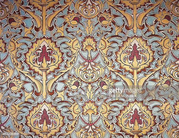 Tapestry from the Grand salon of the Countess of Paris' apartment created by Maison Nicolle of Nimes France 19th century Eu Château Musée...