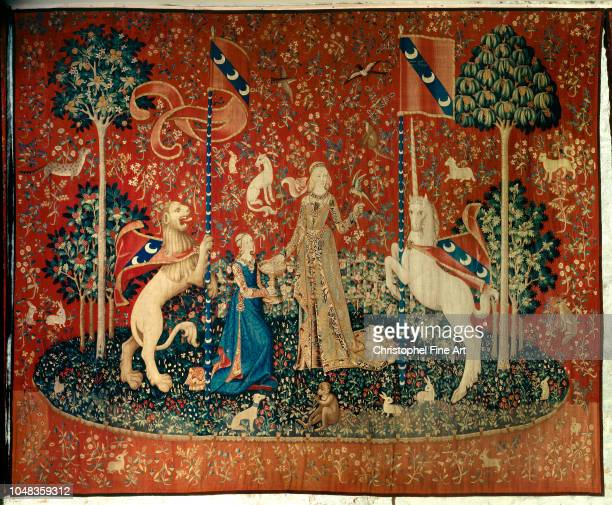 Tapestry The lady with the unicorn Êthe taste Cluny Museum