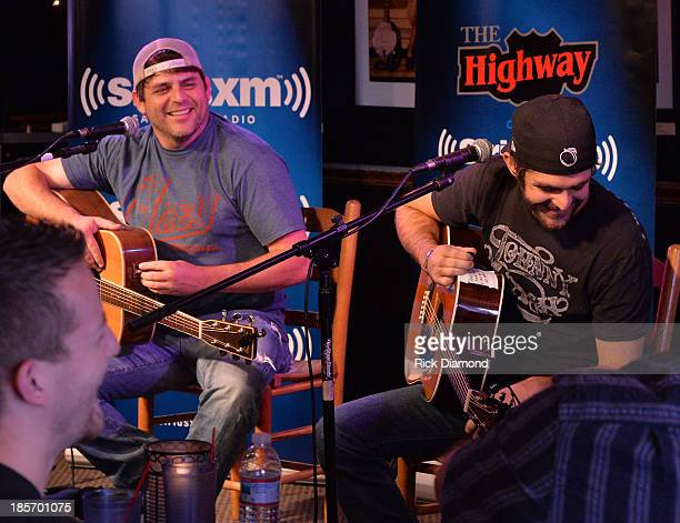 Taping of SiriusXM The Highway VIP Performance featuring Thomas Rhett and special guest his dad Singer/Songwriter Rhett Akins at the Bluebird Cafe on...