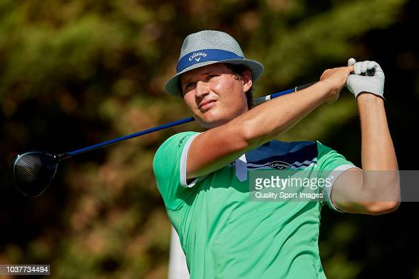 Tapio Pulkkanen of Finland during day three of Portugal Masters at Dom Pedro Victoria Golf Course on September 22 2018 in Vilamoura Portugal