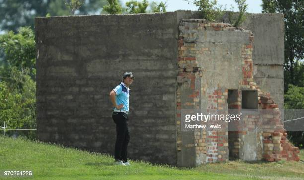Tapio Pulkkanen of Finland looks on during Day Three of The 2018 Shot Clock Masters at Diamond Country Club on June 9 2018 in Atzenbrugg Austria