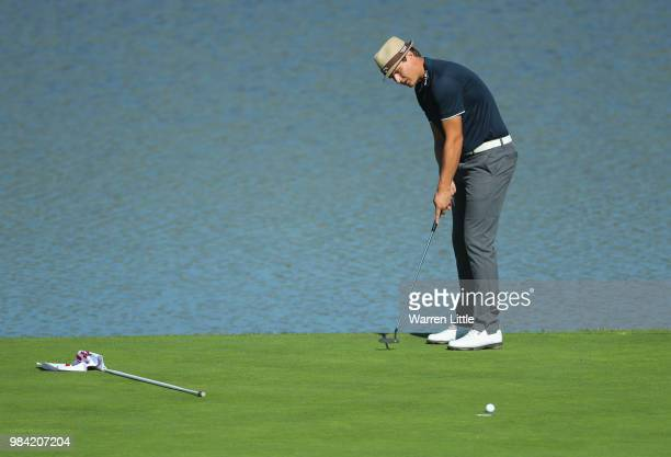 Tapio Pulkkanen of Finlandplays a practice round ahead of the HNA Open de France at Le Golf National on June 26 2018 in Paris France