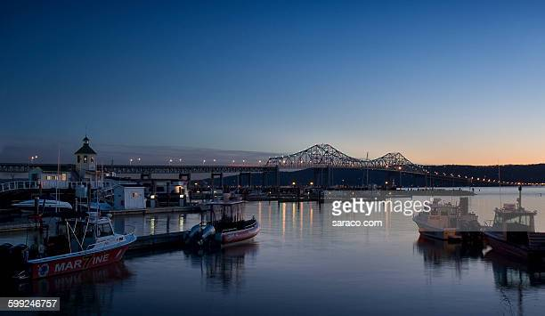 tappan zee bridge - tarrytown stock photos and pictures