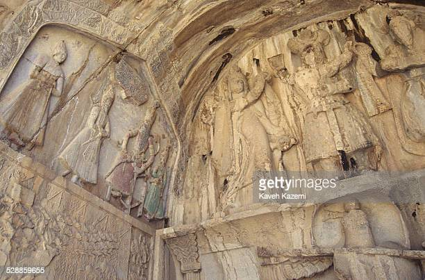 The site of a series of large rock carvings and bas relief from the era of Sassanid Empire of Persia, the Iranian dynasty which ruled western Asia...
