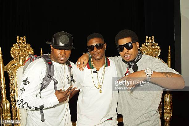 Taquari Hatch Lil Boosie Webbie attend the Lil Boosie Press Conference at the W Hotel New Orleans on march 10 2014 in New Orleans Louisiana