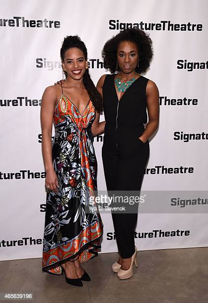 Tara A Nicolas and Kristolyn Lloyd attend 'The Liquid Plane' Opening Night Party at Signature Theatre Company's The Pershing Square Signature Center...