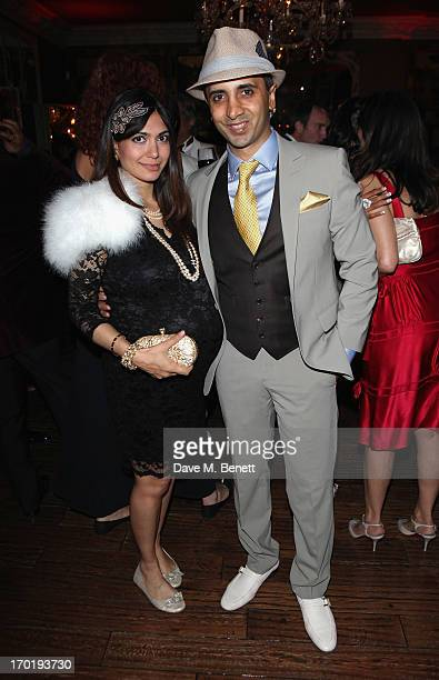 Tara and Tej Lalvani attend the eStylistacom Launch Party at Beach Blanket Babylon on June 8 2013 in London England