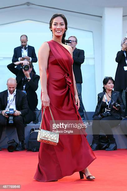 Tara Basro attends a premiere for 'Per Amor Vostro' during the 72nd Venice Film Festival at Sala Grande on September 11 2015 in Venice Italy