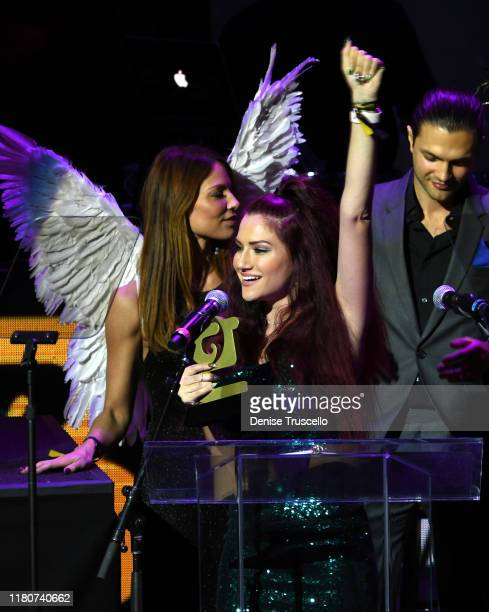 Tara Berger from AtriumWoodland Hills CA wins the Ambassador Award at the First Budtender Awards at Light Nightclub at Mandalay Bay Hotel and Casino...