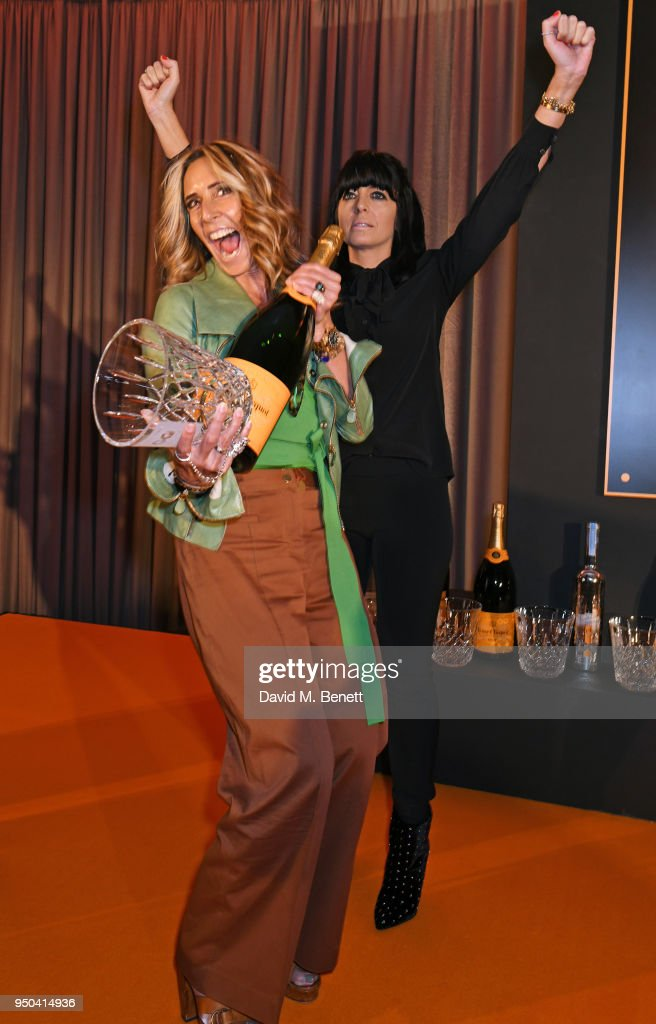 Tara Bernerd (L) and Claudia Winkleman attend the GQ Food & Drink Awards at Rosewood London on April 23, 2018 in London, England.