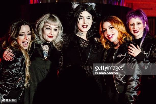 Tara Buenrostro Leah Carmichel Kat Von D Steffanie Strazzere and Kelseyanna Fizpatrick during the Kat Von D Inaugurates Studded Kiss Lipstick...