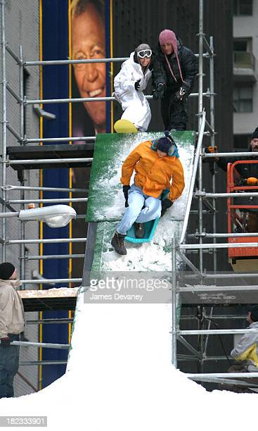 Tara Dakides during Tara Dakides' Snowboard Accident at the Late Show with David Letterman at Ed Sullivan Theatre in New York City New York United...