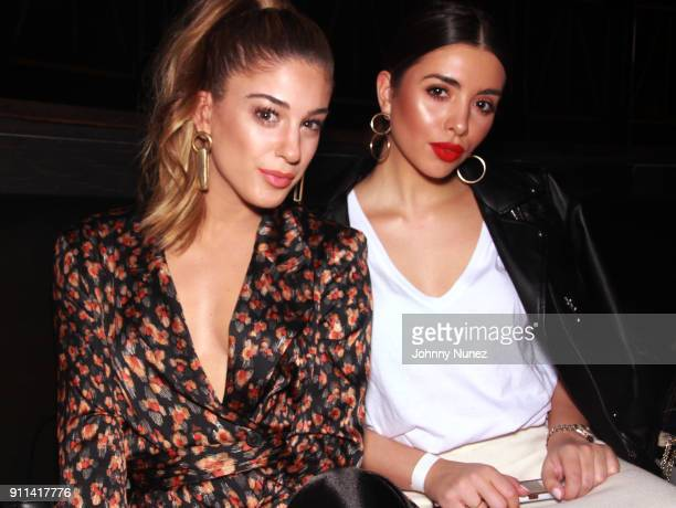 Tara Descalzi and Melany Rodriguez attend the Lexy Panterra PreGrammy Party at W Hotel Times Square on January 27 2018 in New York City