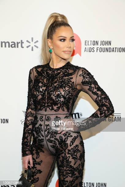Tara Dollinger attends the 28th Annual Elton John AIDS Foundation Academy Awards Viewing Party Sponsored By IMDb Neuro Drinks And Walmart on February...