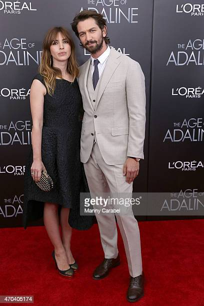Tara Elders and Michiel Huisman attend 'The Age of Adaline' premiere at AMC Loews Lincoln Square 13 theater on April 19 2015 in New York City