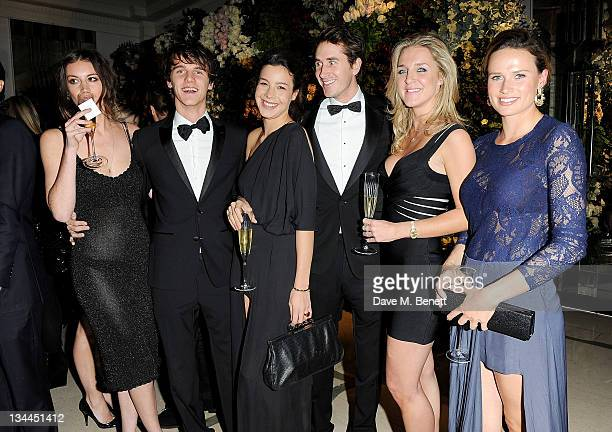 Tara Ferry guest Otis Ferry Chloe Warburton and Francesca Cumani attend the Leon Max Winter Dinner and Dance for 'Too Many Women' in support of...