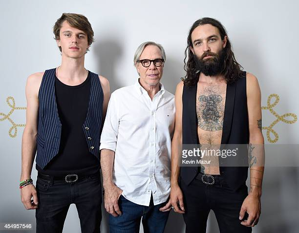 Tara Ferry Tommy Hilfiger and Steve Hash backstage at Tommy Hilfiger Women's during MercedesBenz Fashion Week Spring 2015 at Park Avenue Armory on...
