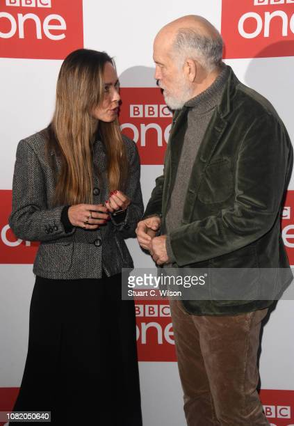 Tara Fitzgerald and John Malcovich attend a screening of The ABC Murder at BFI Southbank on December 13 2018 in London England
