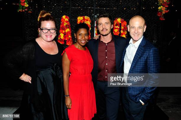Tara Flynn Tara Duncan Pedro Pascal and Peter Friedlander attend 'Narcos' Season 3 New York Screening After Party at Stage 48 on August 21 2017 in...