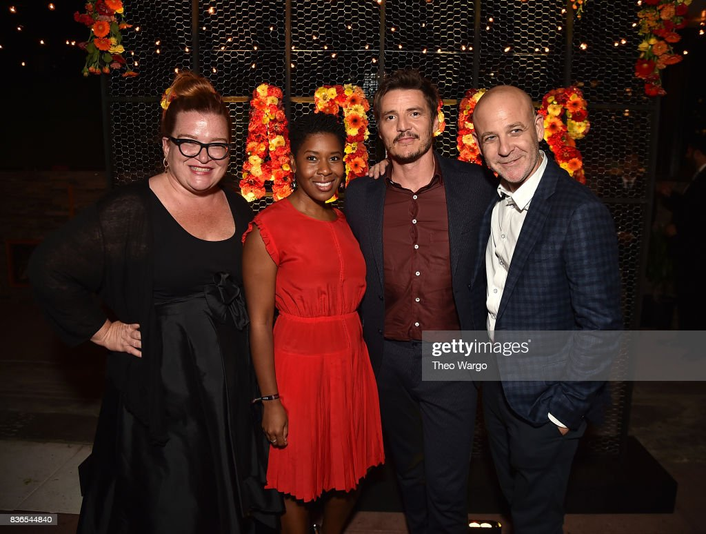 Tara Flynn, Tara Duncan, Pedro Pascal and Peter Friedlander attends the 'Narcos' Season 3 New York Screening at AMC Loews Lincoln Square 13 theater on August 21, 2017 in New York City.