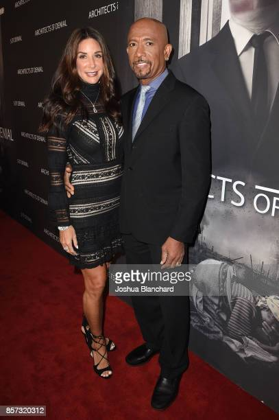 Tara Fowler and Montel Williams arrive at the Architects of Denial Los Angeles Premiere on October 3 2017 in Los Angeles California