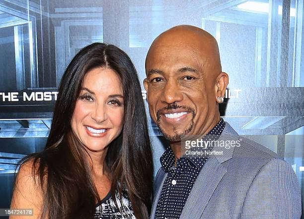 Tara Fowler and Montel Williams attend the Escape Plan premiere at Regal EWalk on October 15 2013 in New York City