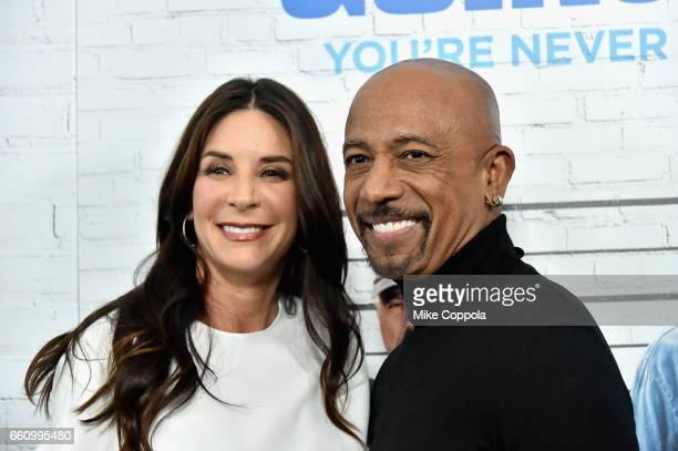 Tara Fowler and Montel Williams attend the Going In Style New York Premiere at SVA Theatre on March 30 2017 in New York City