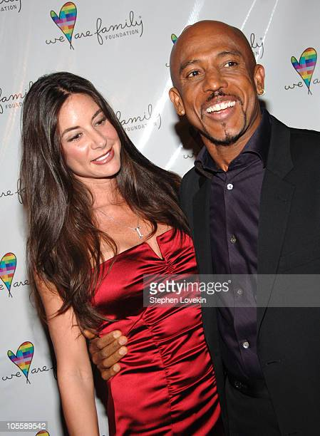 Tara Fowler and Montel Williams during We Are Family Foundation to Honor Elton John Quincy Jones Tommy Hilfiger at Hammerstein Ballroom in New York...
