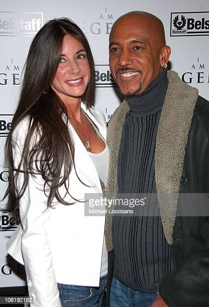 Tara Fowler and Montell Williams attend I am Legend premiere at the WaMu Theater at Madison Square Garden on December 11 2007 in New York City
