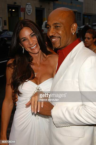Tara Fowler and Montell Williams attend Montell Williams 50th Birthday Party and Surprise Engagement at Pacha NYC on July 12 2006
