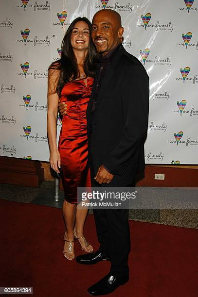 Tara Fowler and Montell Williams attend We Are Family Foundation 4th Anual Gala at Hammerstein Ballroom NYC on April 25 2006