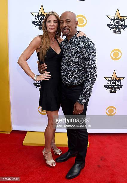 Tara Fowler and TV personality Montel Williams attend the 50th Academy of Country Music Awards at ATT Stadium on April 19 2015 in Arlington Texas
