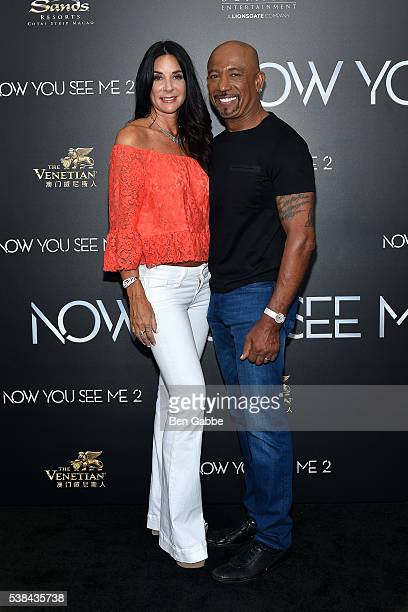Tara Fowler and TV personality Montel Williams attend the Now You See Me 2 World Premiere at AMC Loews Lincoln Square 13 theater on June 6 2016 in...