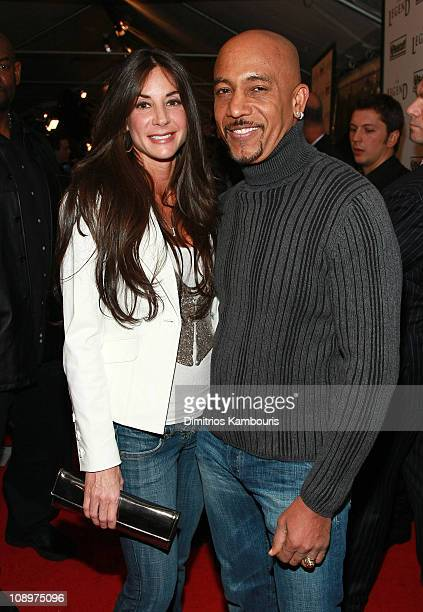 Tara Fowler and TV personality Montell Williams attend the premiere of I Am Legend at the WaMu Theater at Madison Square Garden on December 11 2007...