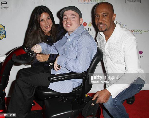 Tara Fowler Jacob Zalewski and Montel Williams attend the 4th Annual Celebrity All In For CP Poker Tournament at the Venetian Hotel and Casino Resort...