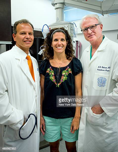 Tara Funk who was pronounced dead after a torn aorta revisits St Frances Hospital with Dr Newell Robinson and Dr James Milano on Tuesday July 8th 2014